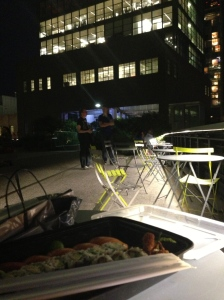 Eating Sushi from Morimoto on the High Line