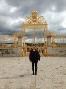 The gilded gates at Versailles