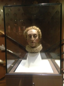 Wooden bust of old Betty